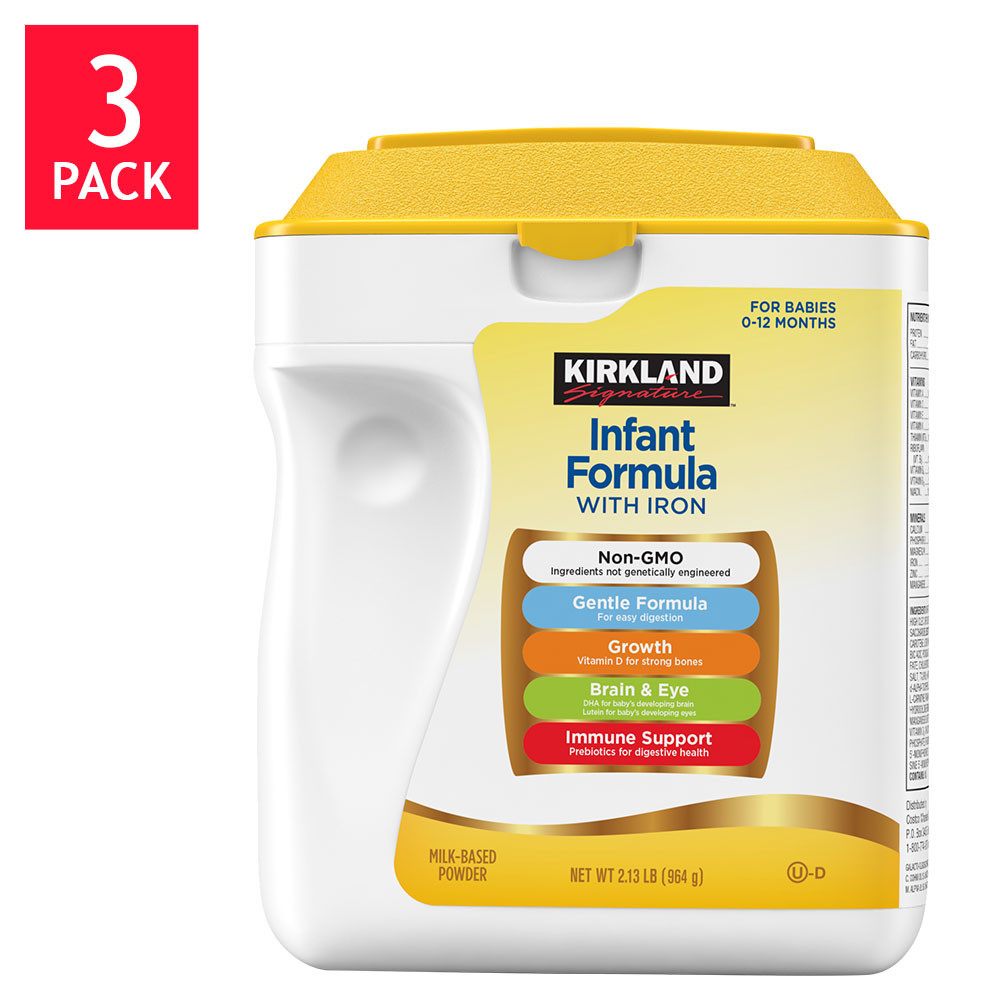 Kirkland Signature Non-GMO* Infant Formula 3-count / 34 oz