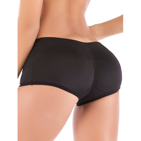 SAYFUT Womens Comfort Soft Boyshort Panties Removable Butt Padded Underwear Butt Lifter Panty Body (Padded Boyshorts)