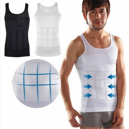44b87bb44157c Mens Slimming Body Shaper Vest Abdomen Slim Shirt Compression Tank  Shaperwear