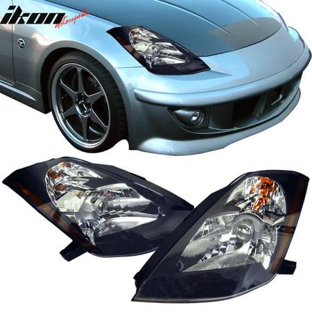 05 Nissan 350z Headlight (Fits 03-06 Nissan 350Z JDM Black Projector Headlights)