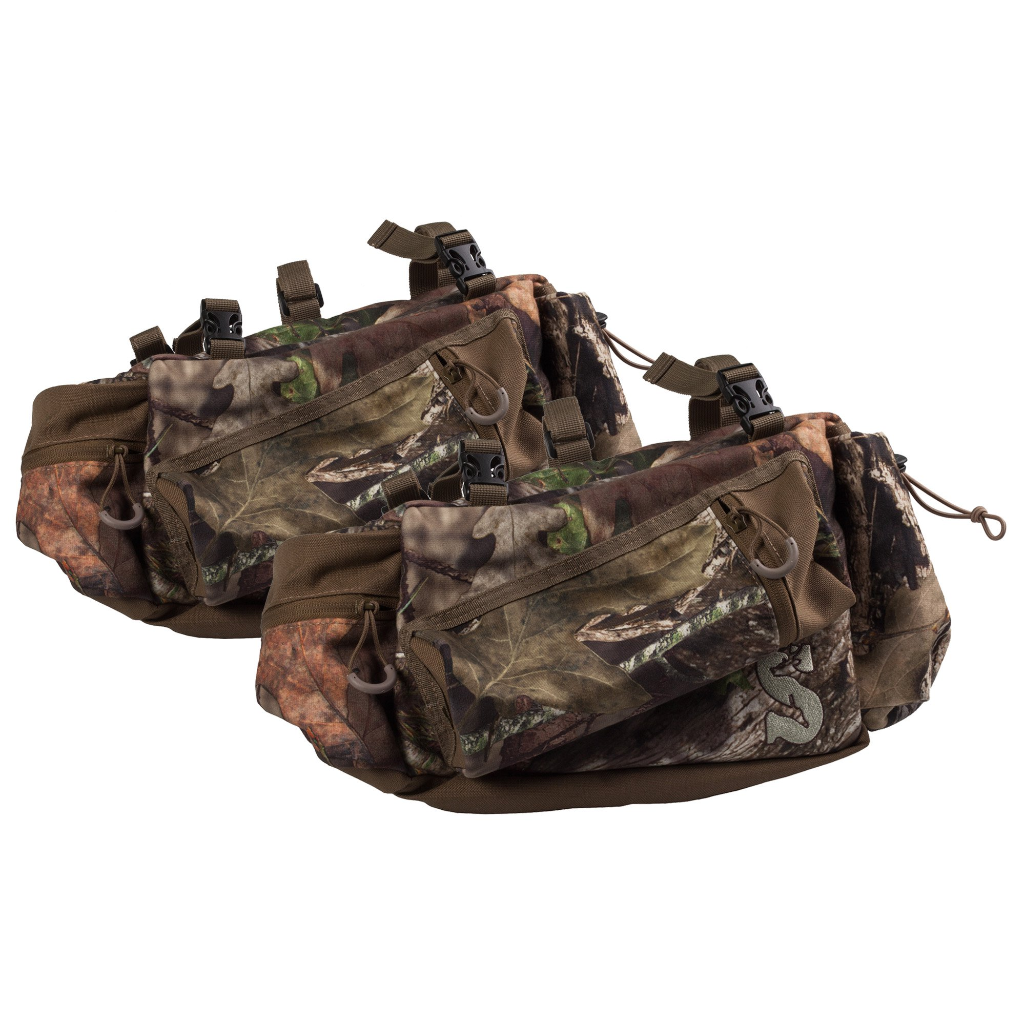 Summit Deluxe Mossy Oak Camo Tree Stand Hunting Gear Storage Side Bag, Pair by Summit
