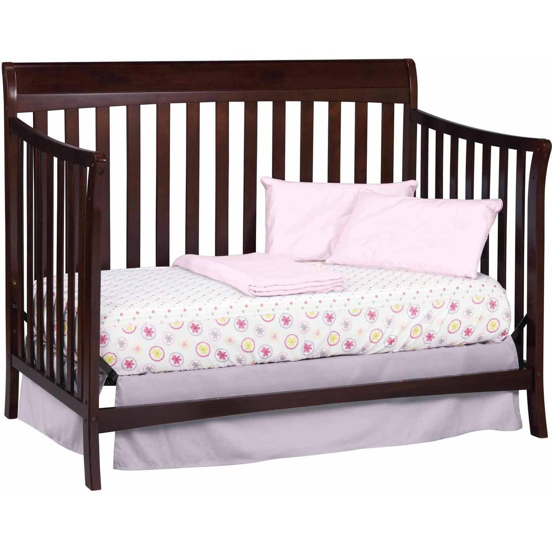 Baby crib childrens storkcraft avalon 4 in 1 convertible espresso nursery new