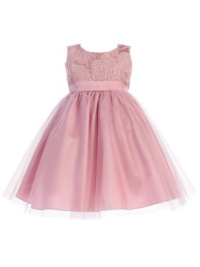6d3ed624560 Product Image Made in the USA - Dusty Rose Corded Tulle Bodice w  Shiny  Tulle Holiday  . Lito