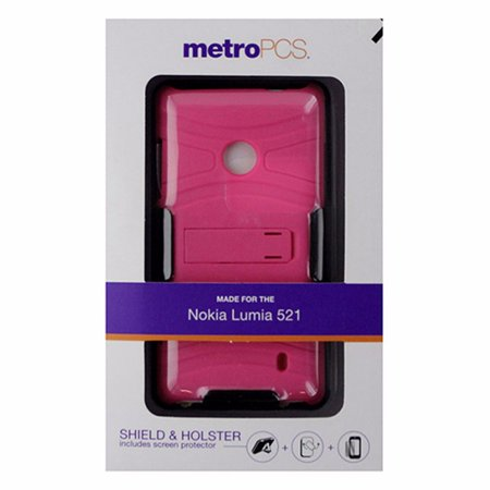 MetroPCS Hardshell Shield Case and Holster for Nokia Lumia 521 - Matte