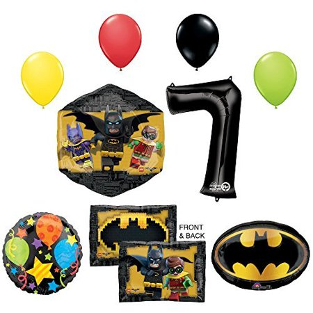The Lego Batman Movie 7th Birthday Party Supplies and Balloon - Lego Batman Birthday Party Supplies