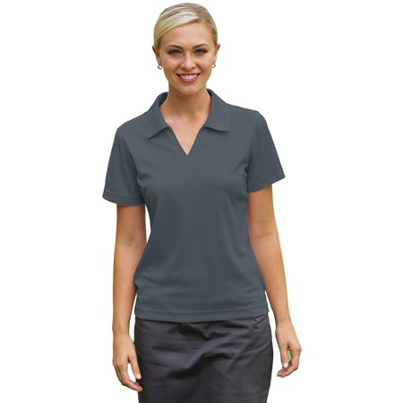 Whispering Pines Sportwear 2001 Willowtec Baby Pique Ladies Performance Polo Shirt , Steel Grey, Small