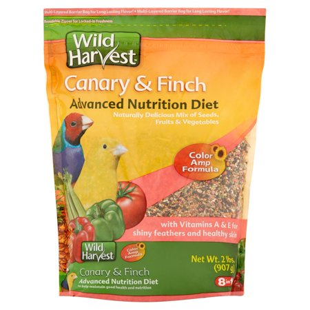 (2 Pack) Wild Harvest Super Premium Canary and Finch Food, 2 lb