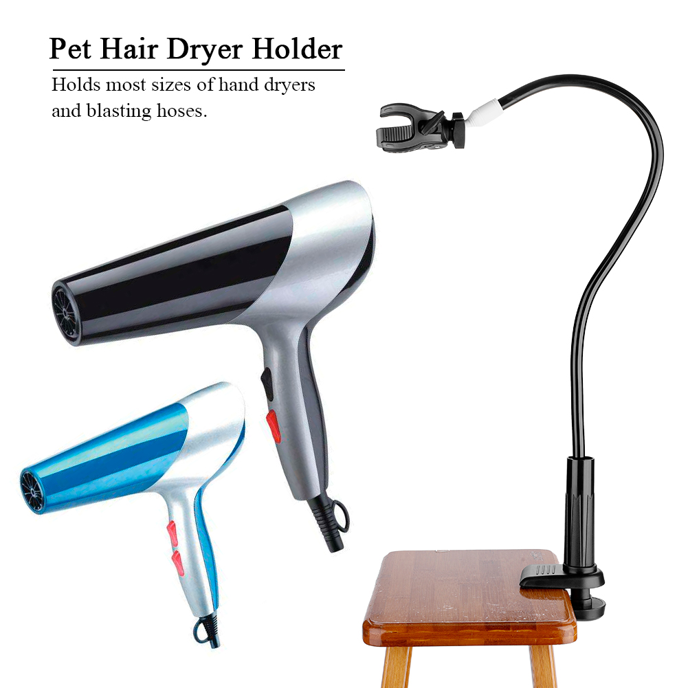 Table Clamp On Stand for Hair Styling Hands-Free Pet Cat Dog Grooming Table Hair Dryer Holder Pet Hair Dryer Holder
