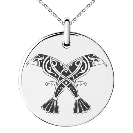 Stainless Steel Huginn & Muninn Odin