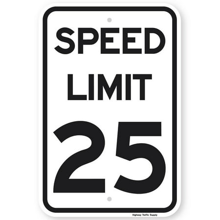 Highway Construction Signs - SPEED LIMIT 25 MPH Sign 18