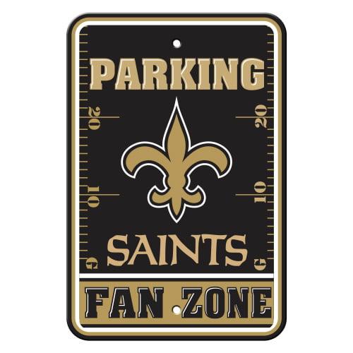FREMONT DIE Inc New Orleans Saints Plastic Parking Sign - Fan Zone Plastic Parking Sign - Fan Zone