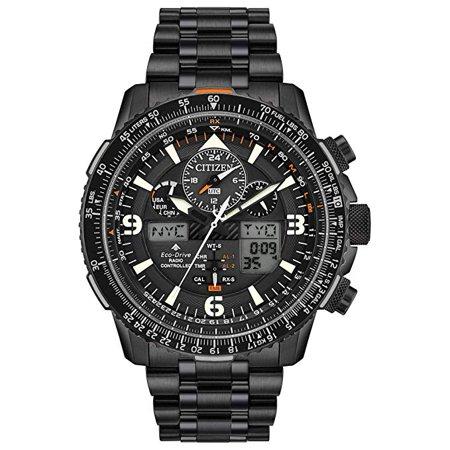 Citizen Eco-Drive Promaster Skyhawk A-T Chronograph Black Mens Watch