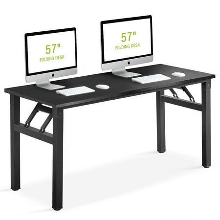 Computer Desk Tribesigns 57 inch Folding Office Desk Workstation