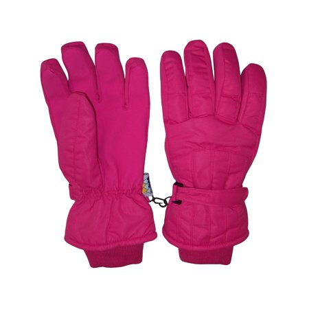 NICE CAPS Womens Ladies Adults Cold Weather Thinsulate Waterproof Ridges Winter Ski Snow Gloves Extreme Cold Weather Gloves