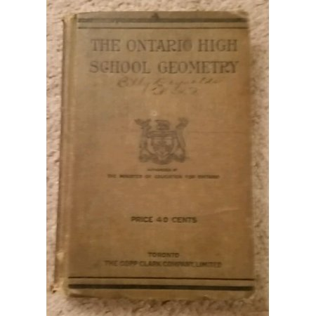 The Ontario High School Geometry: Theoretical (1910) - image 1 of 1