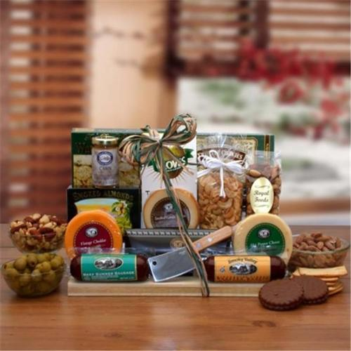 Gift Basket Drop Shipping 852252 Ultimate Gourmet Nut & Sausage Board