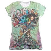 Suicide Squad Psychedelic Cartoon Juniors Sublimation Shirt