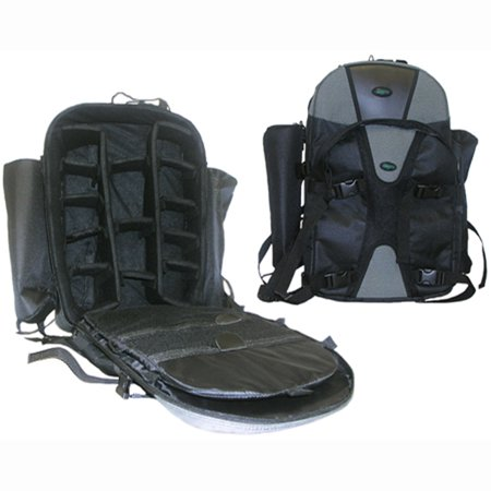 DigPro Adventurer Series Photography DSLR Camera Backpack - Pro (Black/Gray)