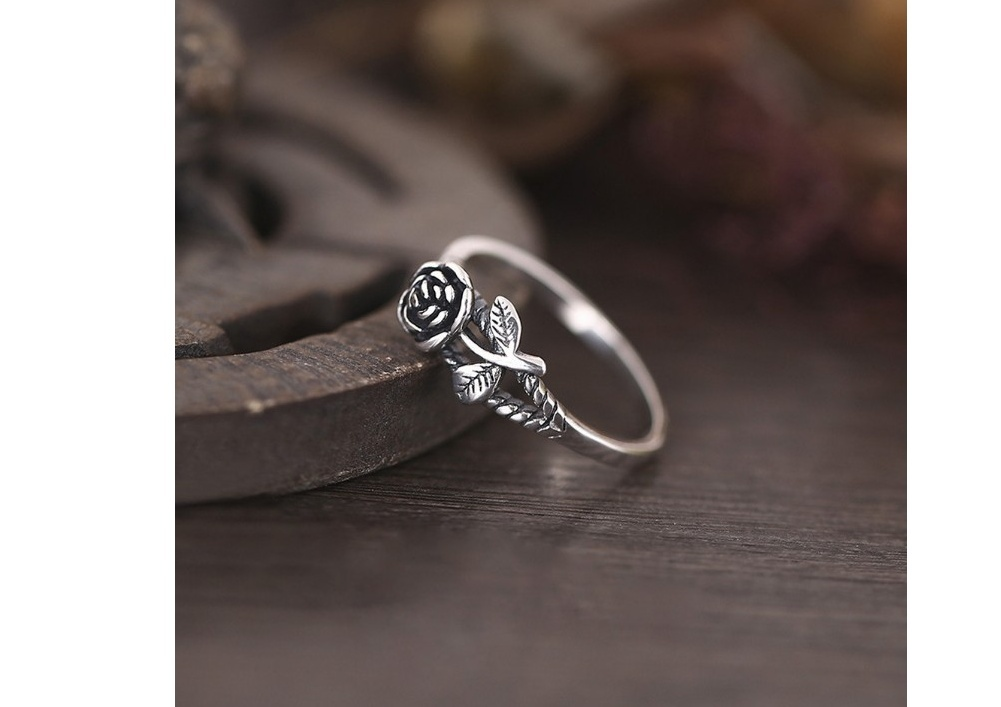 Charming Vintage Rose Flower Engagement Wedding Ring Women/'s Jewelry Size 5-10
