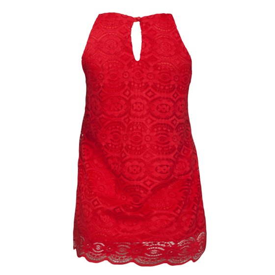 dfd610f3265ad6 eVogues Apparel - eVogues Plus Size Lace Overlay Sleeveless Top ...