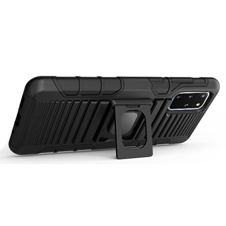 Galaxy S20 Plus Case/Mount/Clip, Nakedcellphone Black Ring Grip [Rugged Cover with Stand] and [Belt Hip Holster] and [Magnetic Car Holder] for Samsung Galaxy S20+ - image 4 of 12