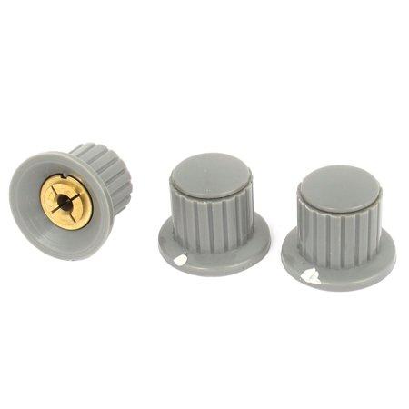 Knobs Fits Split Shaft (Unique Bargains 3 Pcs Volume Control 4mm Split Shaft Dia Potentiometer Mixer Knobs Gray)