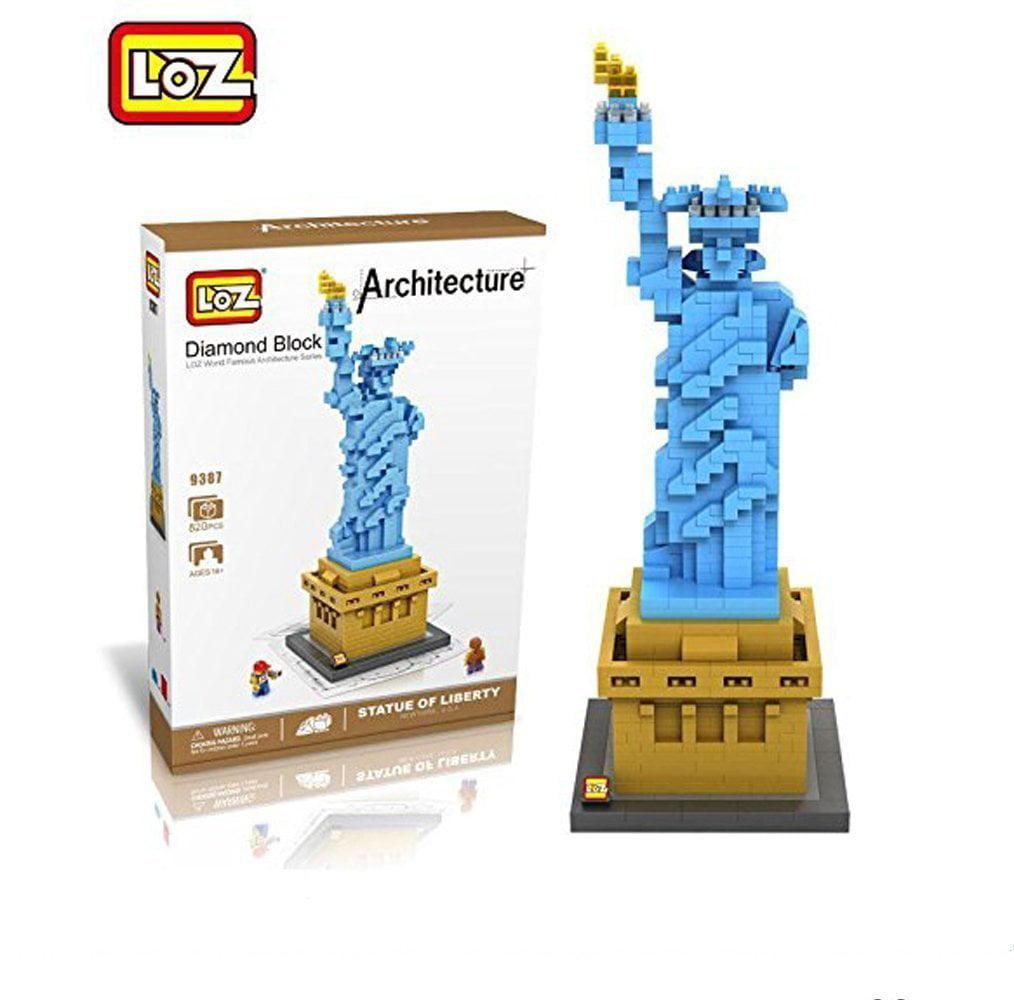 LOZ Micro-sized building blocks Statue of Liberty Nanoblock Model of World Famous... by
