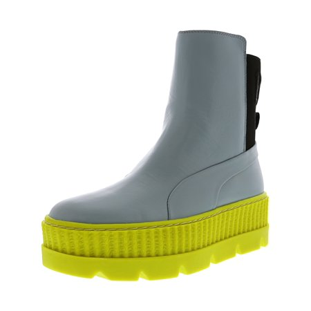 Puma Women's Fenty X Chelsea Sneaker Boot Sterling Blue / Black Limeade Mid-Calf Leather -