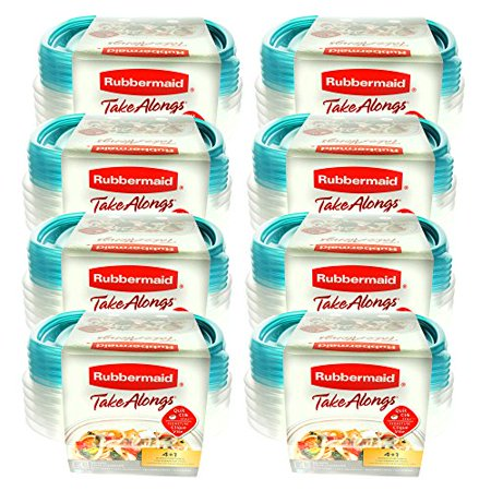 Rubbermaid TakeAlongs 2.9 Cup Sandwich Food Storage Container (Pack of 40)