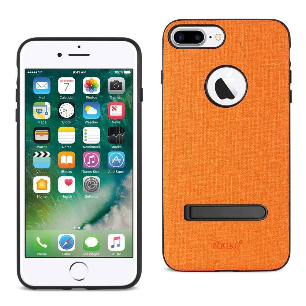 Reiko REIKO IPHONE 7 PLUS/ 6S PLUS/ 6 PLUS RUGGED TEXTURE TPU PROTECTIVE COVER IN ORANGE
