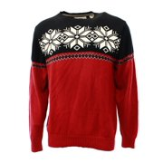 Weatherproof NEW Red Black Mens Size Small S Fair Isle Crewneck Sweater