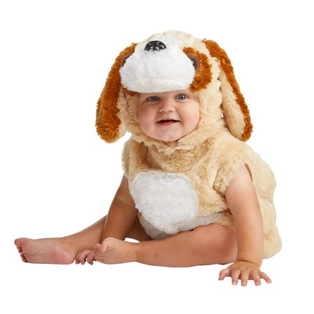 Cuddly Dog Infant Costume - Baby And Dog Coordinating Halloween Costumes