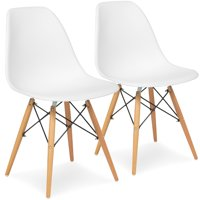 Best Choice Products Set of 2 Mid-Century Modern Arm Chairs- White