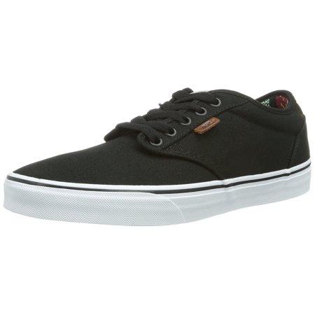 58323afac93551 Vans - Vans Atwood Deluxe Skateboarding Shoes 10oz Canvas Black Guatemala -  Walmart.com