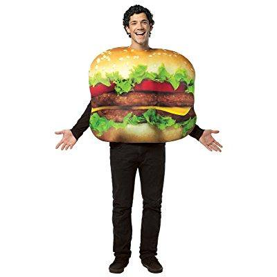 get real cheeseburger costume - one size - chest size 48-52](Cheese Burger Costume)