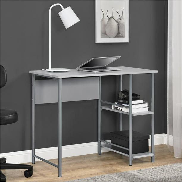 Mainstays Basic Metal Student Computer Desk, Gray