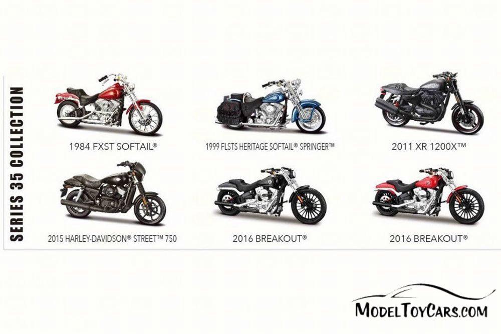 Maisto 1:18 Harley Davidson 1999 FLSTS Heritage Springer MOTORCYCLE BIKE Model