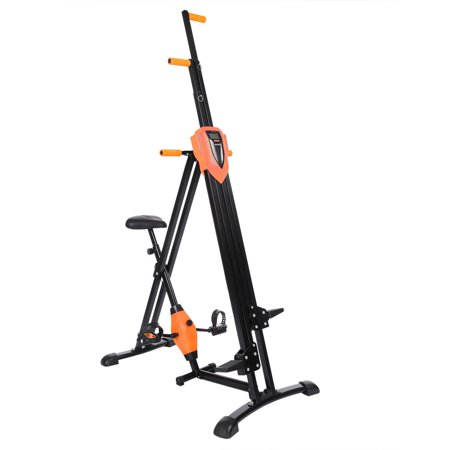 Total Body Workout Climber/Stepper Foldable Vertical Climber Machine Exercise Stepper Cardio Workout Fitness Gym (Best Cardio Workout At Gym)
