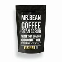 Mr. Bean Organic All Natural Coffee Bean Exfoliating Body Skin Scrub with Coconut Oil, Vitamin E, and Sea Salt- Cocoberry