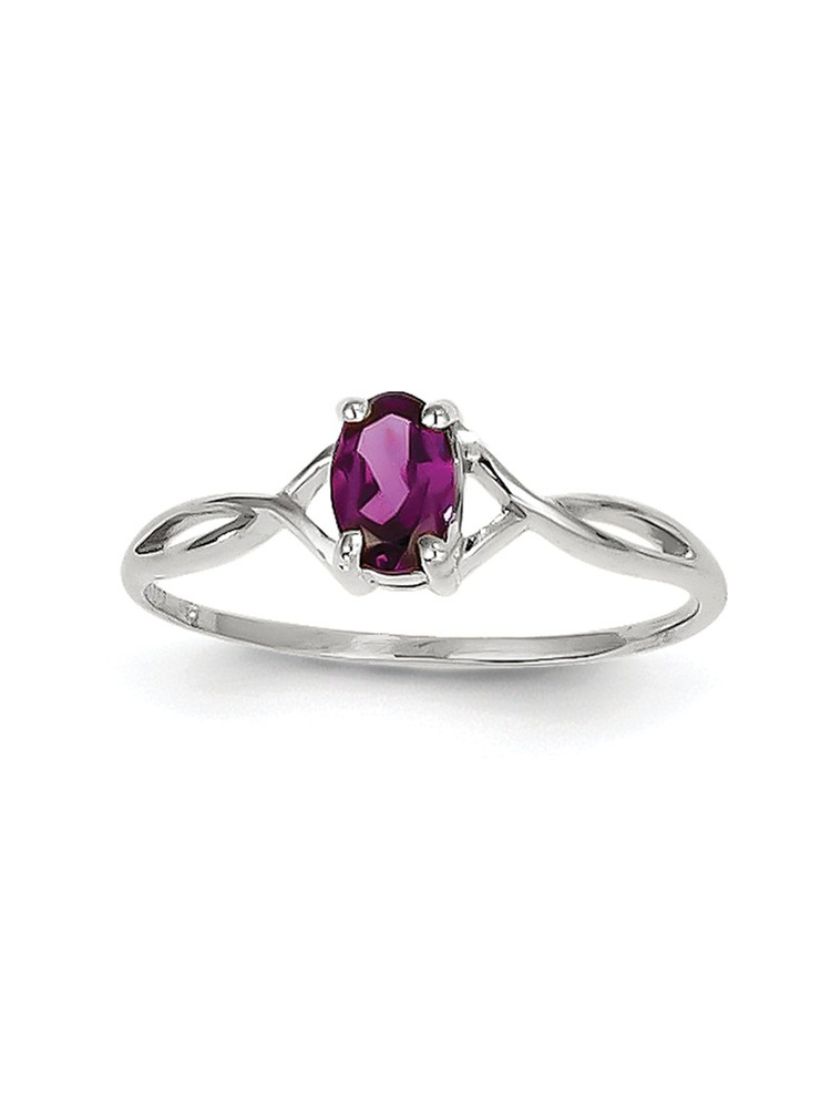14k White Gold Rhodolite Garnet Ring .58 cwt by Jewelryweb