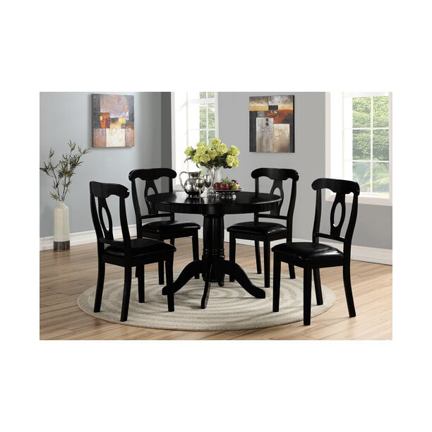 Angel Line 5-Piece Lindsey Dining Set, Black - Walmart.com