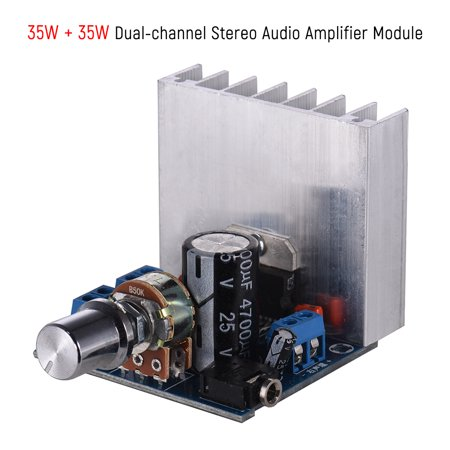 Stereo 2 0 Audio Amplifier Module 35W + 35W Dual-channel Mini Amp Board  Amplify DIY Circuit Board with Heatsink
