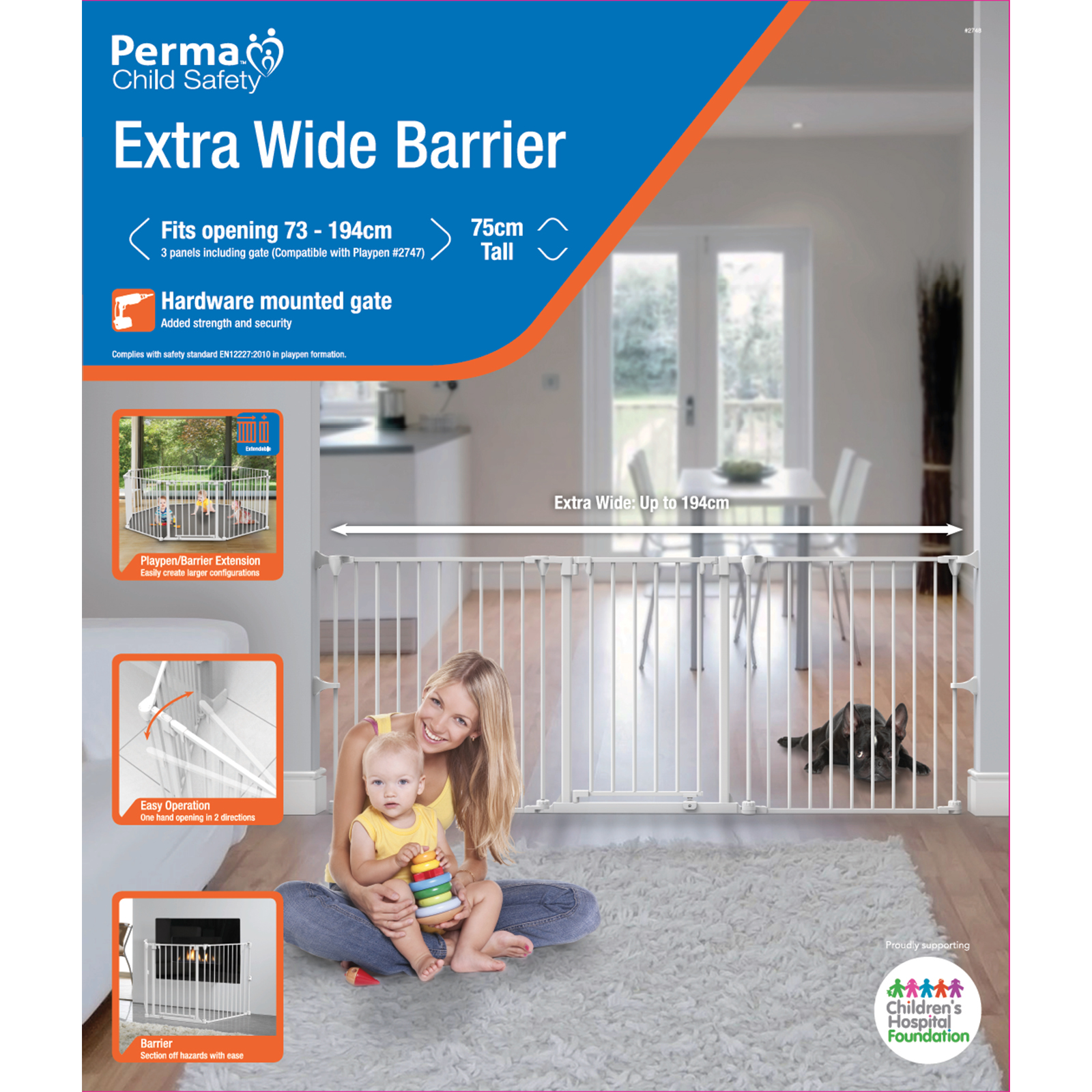 Extra Wide Barrier Gate Fits 28 8 76 4 Or Playpen Extension