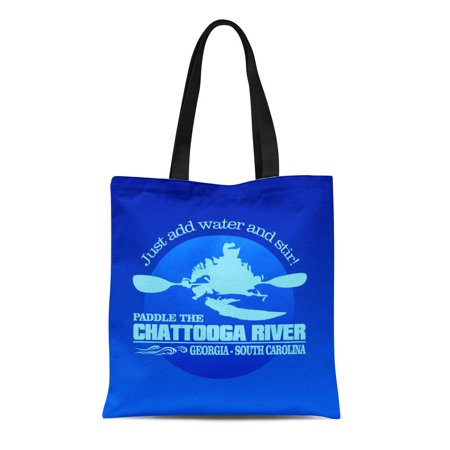 LADDKE Canvas Tote Bag River Chattooga Blue Rafting the Kayaking Best White Water Reusable Handbag Shoulder Grocery Shopping