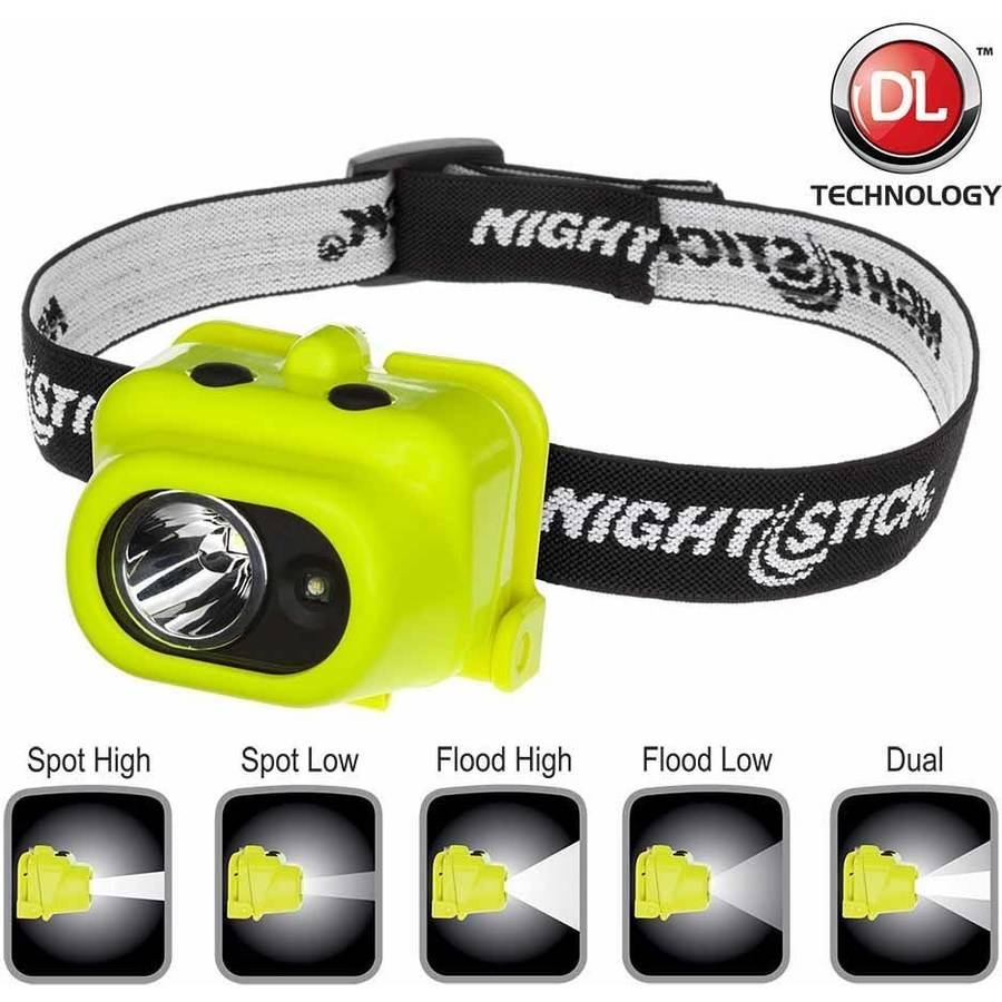 Nightstick XPP-5454G Intrinsically Safe Dual-Light Multi-Function Headlamp, Green