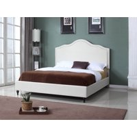 "HomeLife® 48"" Beige Curved Platform Bed"