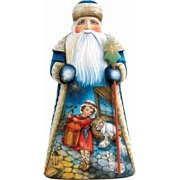 G.Debrekht 243017 Woodcarving My Gift To You 10 in. - Woodcarved Santa