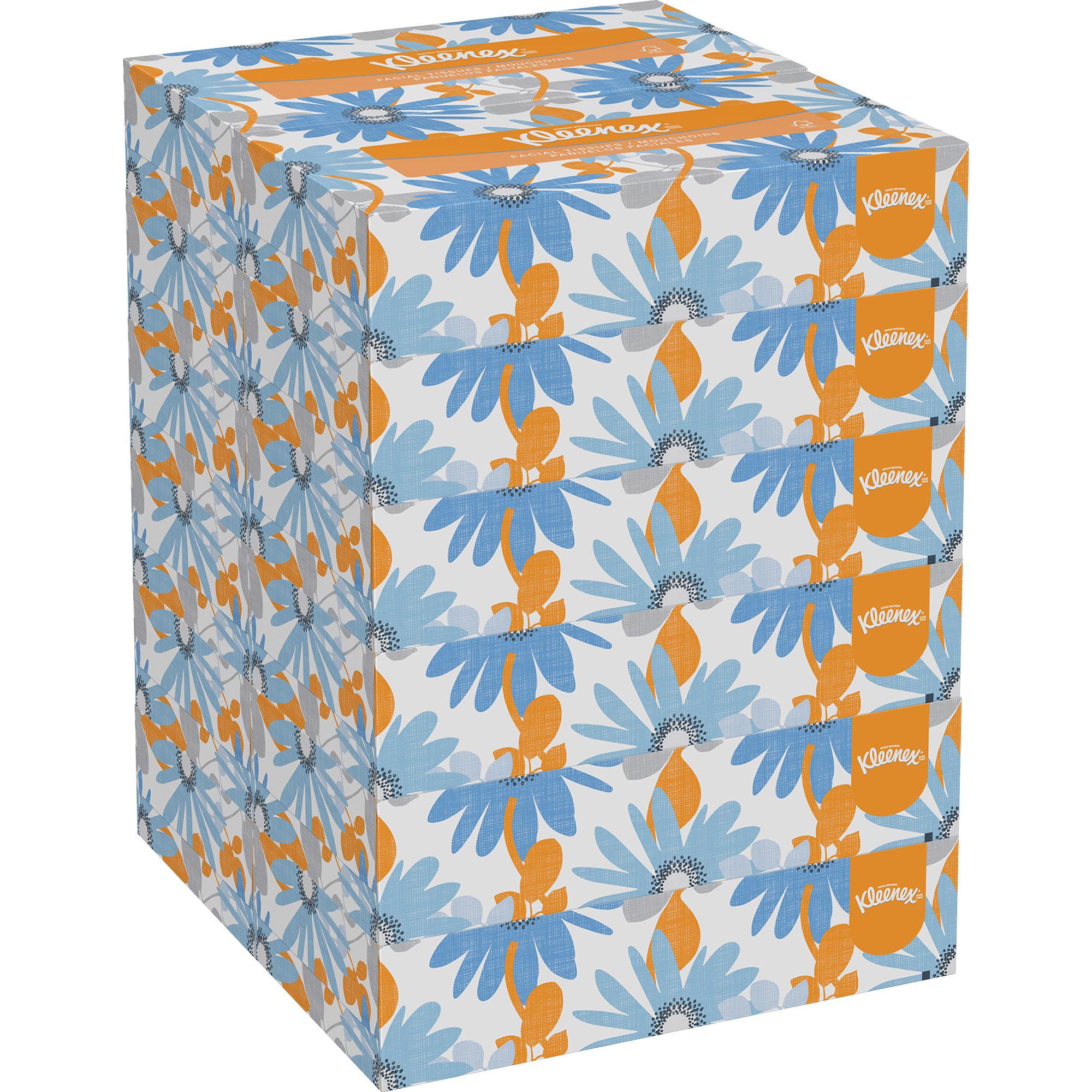 Kleenex, KCC03076, 2-ply Facial Tissue, 1500 / Carton, White