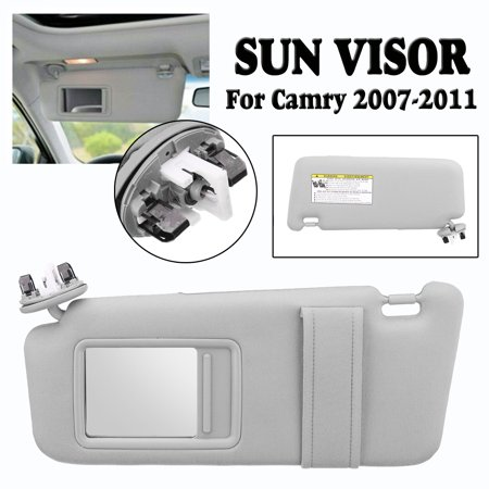 Solid Car Sun Visor Day and Night Anti-glare Car Shade Sun Visor Shield Extension Extend Driving Window Sunshine for 2007-2011 Toyota Camry Driver Side With Sunroof and Light Left ()