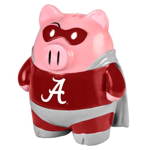 "NCAA 8"" Team Superhero Piggy Bank: Alabama Crimson Tide"